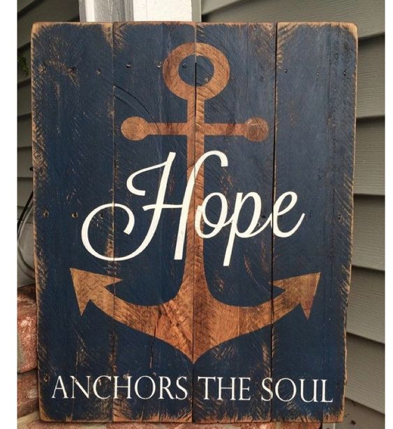 Nautical painted pallet board quote