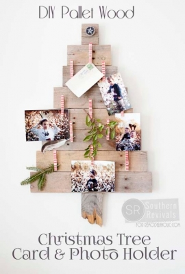 Pallet-Wood-Christmas-Tree-Card-Photo-Holder