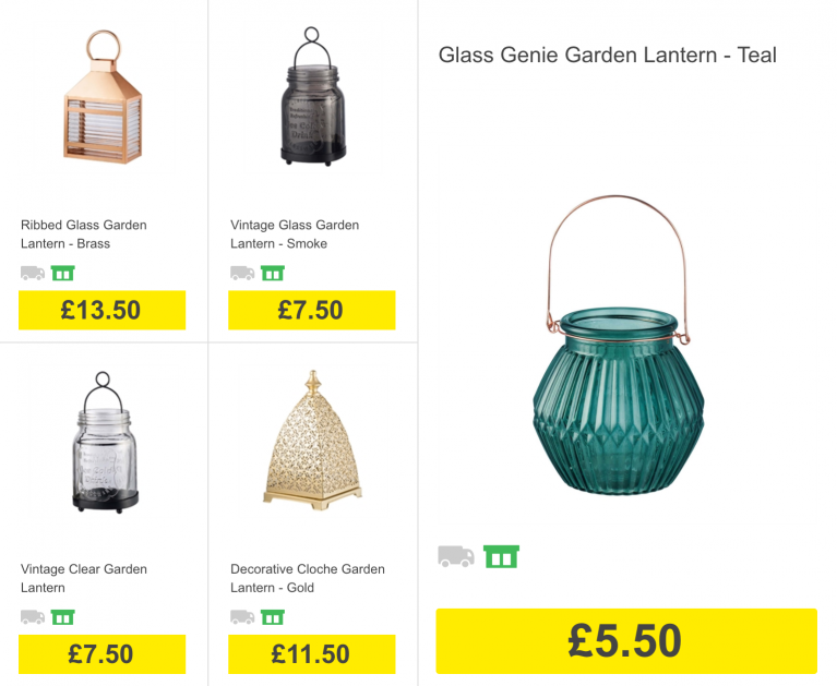 Garden lanterns and candle holders