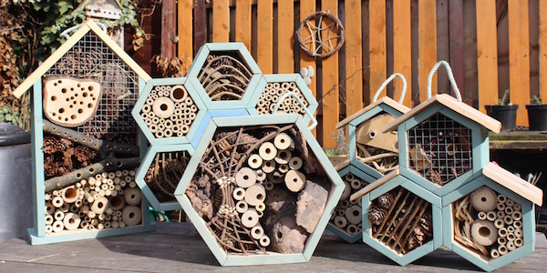 Bee hotel made from pallets