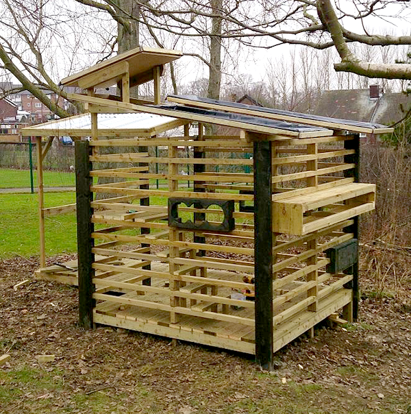 wildlife hide made from pallets