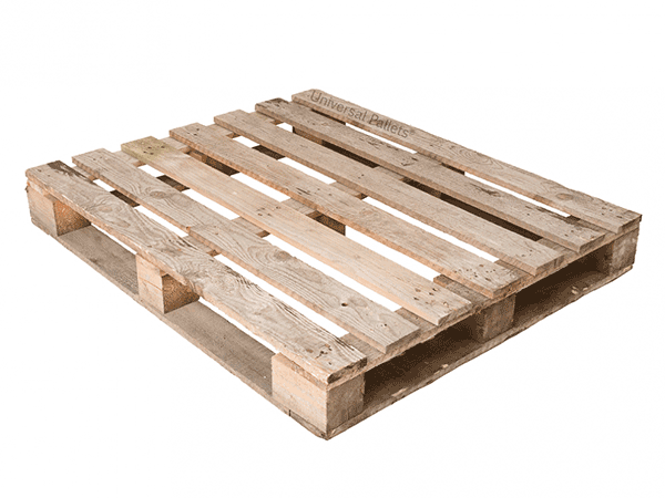 Grade 2 or grade b pallet with perimeter base