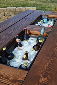 pallet drinks cooler in a table