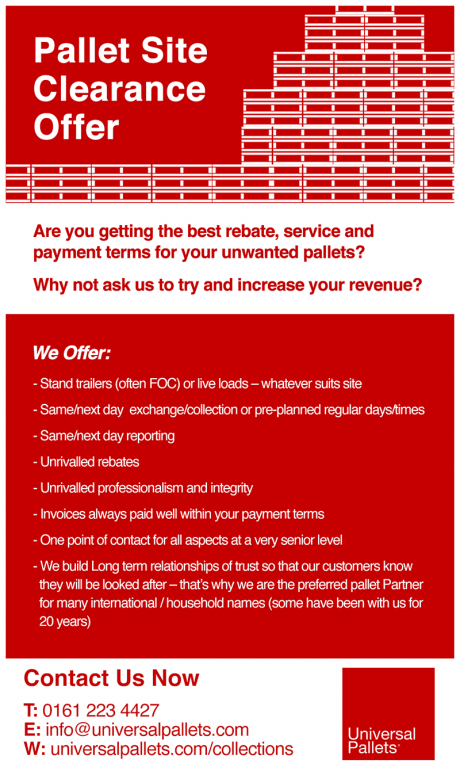 Leaflet detailing site clearance services