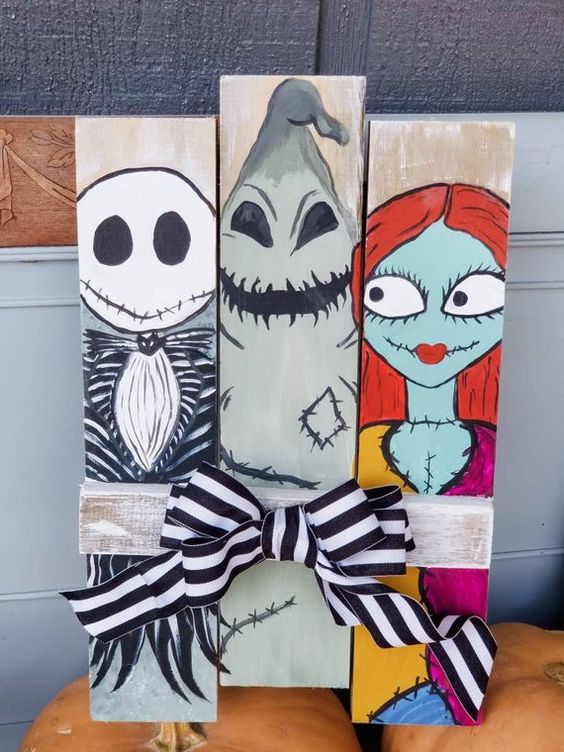 pallet art for halloween