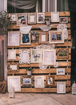 Memory board mad with pallets