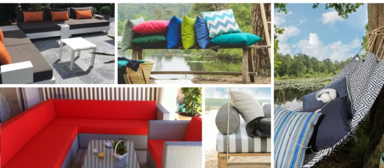 Collection of outdoor cushions