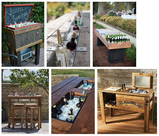 Pallet drinks coolers